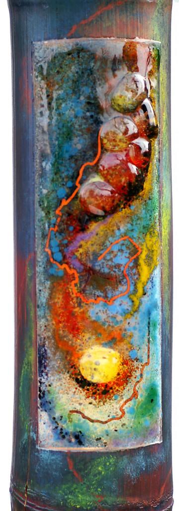 "Glas & Meer - Gundula Menking ""Bambusleuchte"" (Glasmuseum Immenhausen, verkauft)"