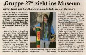 Buxtehuder Tageblatt vom 16. November 2007