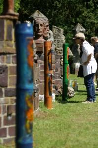 Bambusleuchte von Gundula Menking in der Kunststätte Bossard